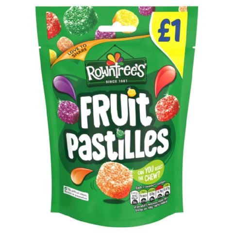 Rowntrees Fruit Pastilles Sweets 120g